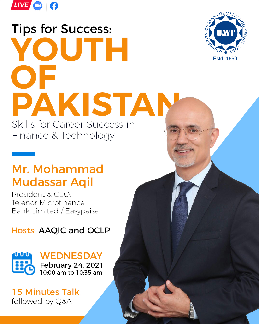 Future Leaders with Business Leaders - Mohammad Mudassar Aqil, President & CEO - EasyPaisa